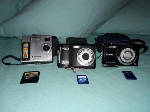 Lote De Câmeras Digitais - Kodak, Polaroid E Mitsuca