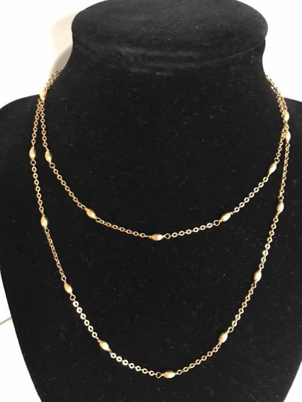 Cordão Ouro 18/750- 10,1 G/maciço -81,5 Cm- C/grãos De Ouro-