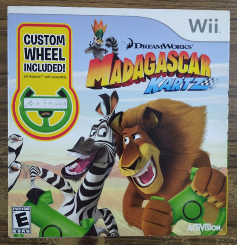 Madagascar Kartz. Incluye Timon. Wii. Nuevo Y Sellado