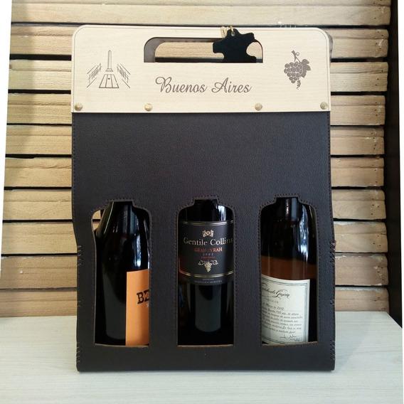 Regalos Empresariales Personalizados Estuche Porta Vinos