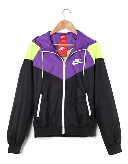 Chaqueta Nike Mujeres Windrunner Púrpura / Negro / Amarillo