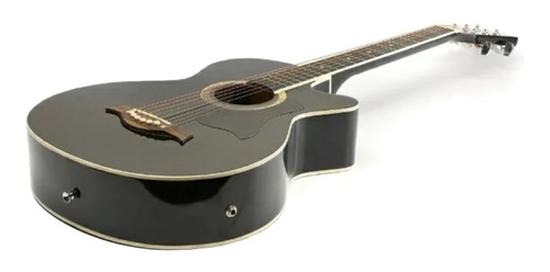 Imagen 1 de 3 de Guitarra electroacústica Femmto AG002  negra