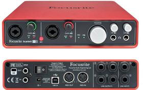 Placa De Audio Focusrite Scarlett 6i6 Usb 2nd Generation