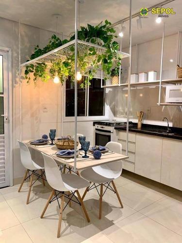 Apartamento Com 2 Dormitórios À Venda, 47 M² Por R$ 296.000,01 - Chácara Belenzinho - São Paulo/sp - Ap0844