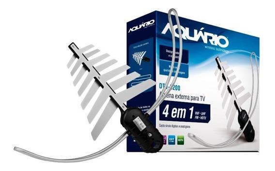 Antena Tv Digital Hdtv Externa 4 Em 1 Aquário - Dtv-3200