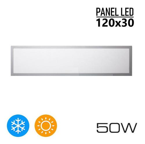 Imagen 1 de 10 de Panel Led 120x30 Cm Plafon Rectangular 50w Iluminacion Techo 1 Año De Garantia