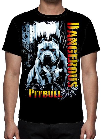 Camiseta Cachorro Pitbull Mod 03 - Frente