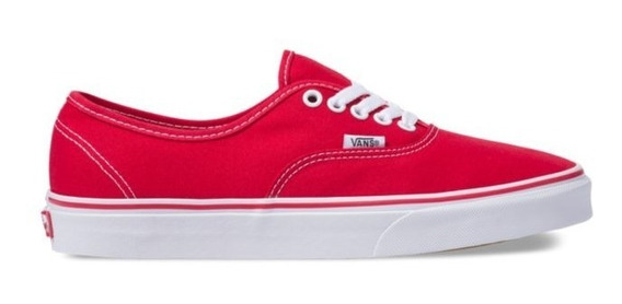 Tenis Vans Authentic Rojo 100% Originales - Vn000ee3red