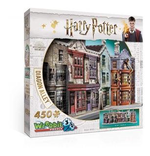 Harry Potter Puzzle 3d 450 Pçs - Beco Diagonal