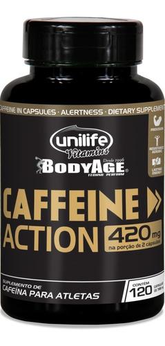 Caffeine Cafeína 450mg 60 Capsulas Unilife
