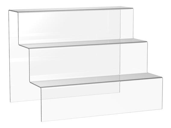Displays Escadinha Figures Acrílico 33x5x5cm Com 3 Degraus