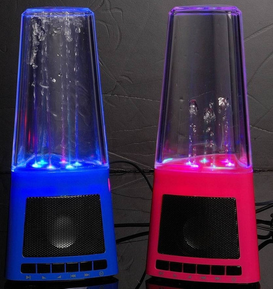 Caixa De Som Portatil Dancing Water Água Usb P2 Cartao Sd