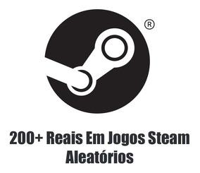 200 Reais Em Jogos Premium Da Steam - Keys Aleatórias