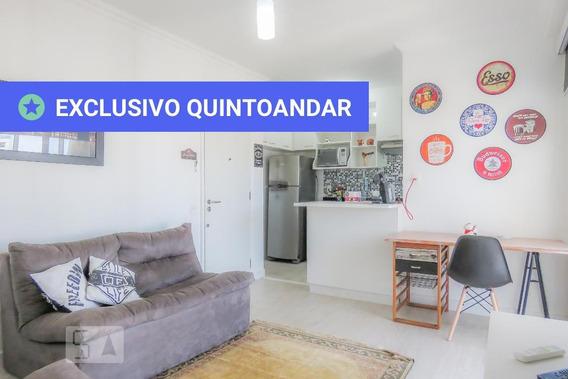 Apartamento No 19º Andar Mobiliado Com 1 Dormitório E 1 Garagem - Id: 892946554 - 246554