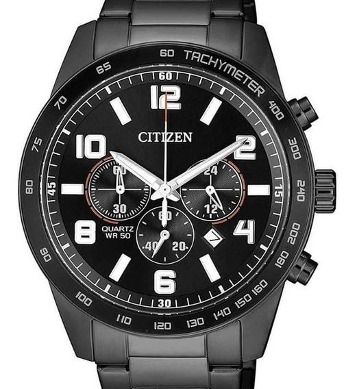Relógio Citizen Masculino Crono Preto An8165-59e / Tz31454p