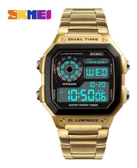 Relógio Skmei Masculino 1335 Pulseira Aço Inoxidável