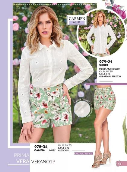 Oferta Remate Outlet Short Menta Floral Cklass 979-21