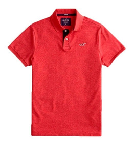 Camisa Gola Polo Masculina Hollister Stretch Original
