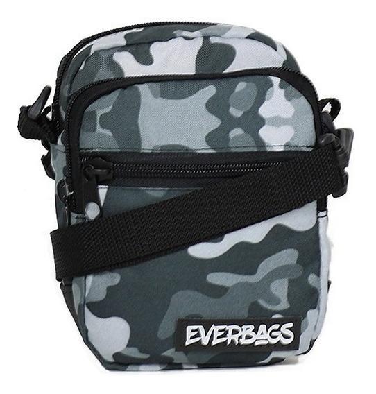 Shoulder Bag Camu Cinza Everbags Bolsa Tira Colo Necessaire1