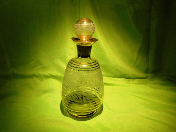 Antigua Licorera De Cristal