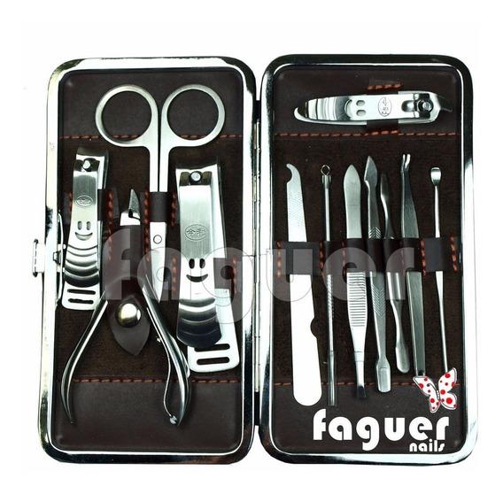 Set Completo Profesional Manicura En Estuche. Faguer Nails