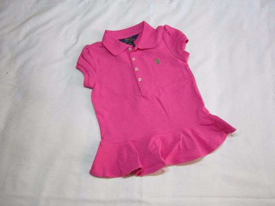 Camisa Infantil Ralph Lauren Tamanho 4x Com Babado