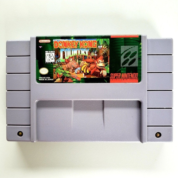 Donkey Kong Country Original Snes Super Nintendo