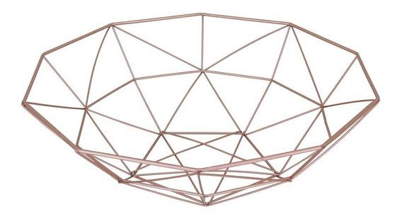 Centro De Mesa Aramado Metal Rose - Home&co