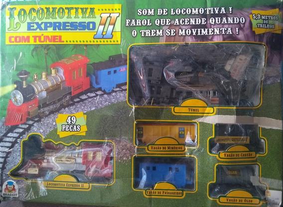 Kit Com 2 Trenzinhos Elétricos Com Trilhos Completos