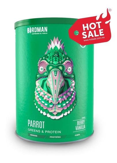 Súper-alimento Verde Parrot Greens & Protein 900g By Birdman