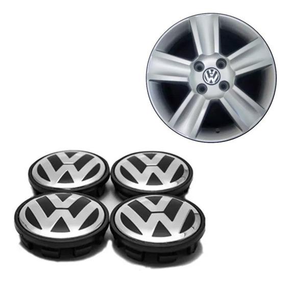 Jogo Calotinha Miolo De Centro Roda Volkswagen Cross E Fox