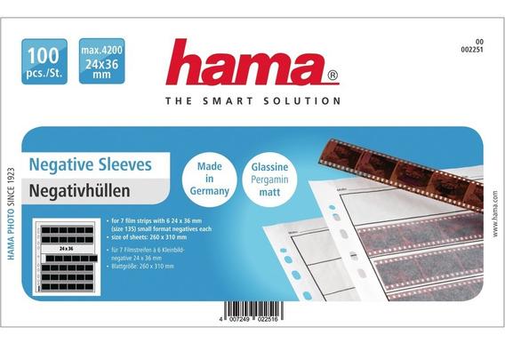Hama - Caixa C/ 100 Folhas Para Armazenamento De Negativos