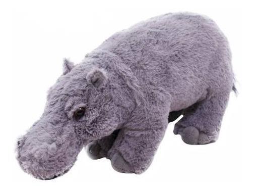 Hipopótamo Cinza De Pé 30cm - Pelúcia