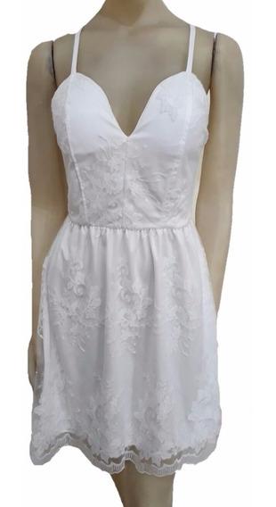 Vestido De Fiesta Microtul Bordado Noche Civil Casamiento