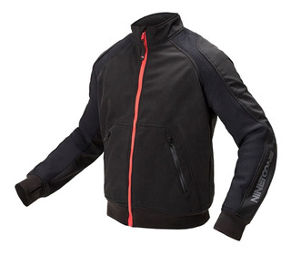 Campera Moto Softshell Nine To One Transit Evo Negra