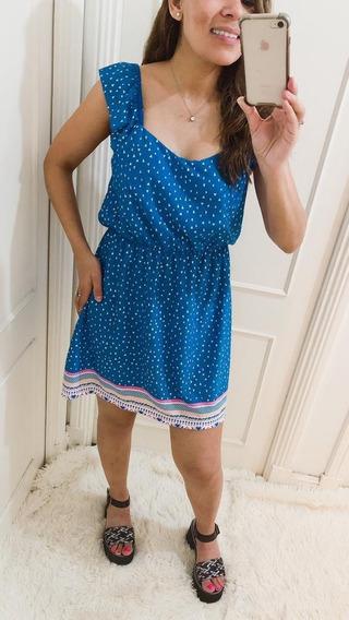 Vestido Mujer Informal Estampado Con Falda Corta