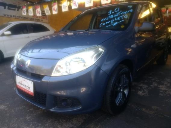 Renault Sandero Authentique 1.0 Cinza 2012