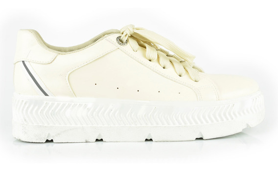 Tenis Urbanos Para Mujer Lob Footwear 901-9520 Beige Nuevo Oi19