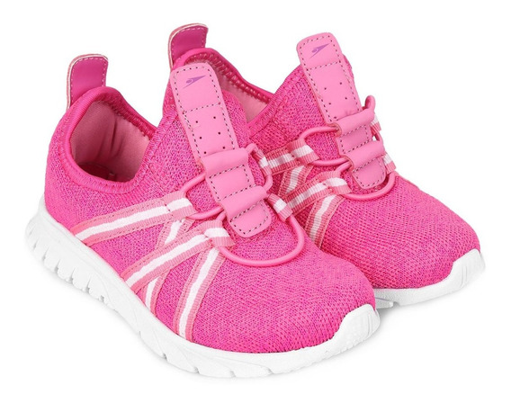 Tênis Feminino Infantil Klin Baby Freedom Calce Fácil - Pink