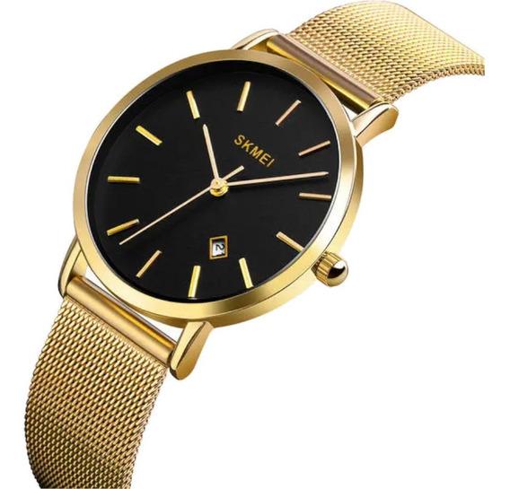 Relógio Feminino Skmei 1530 Dourado Casual