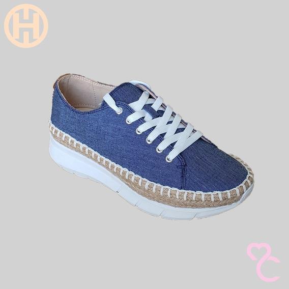 Hispana - Tenis Casual Confort Dama - Azul Mezclilla - 6508