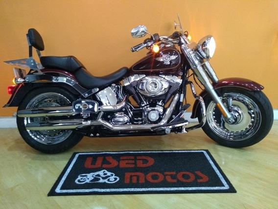Harley Davidson Fat Boy Flstf 2014 Vermelha