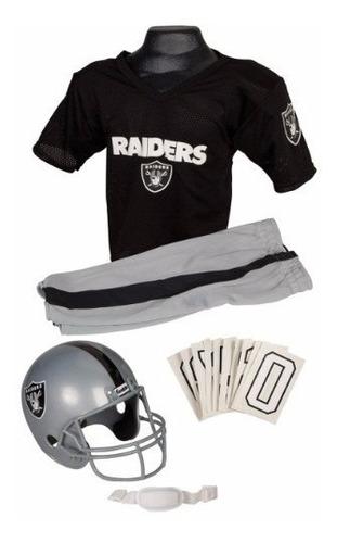 Uniforme / Disfraz De Nfl Super Bowl Raiders Para Niños