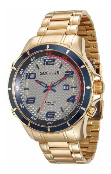 Relógio Masculino Analógico Seculus 28768gpsvda1