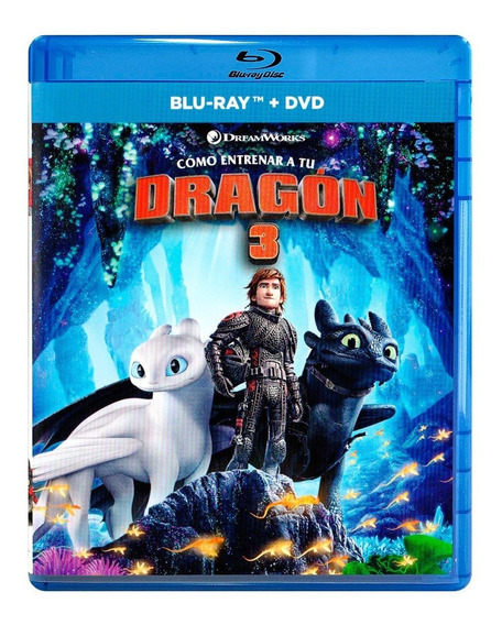 Como Entrenar A Tu Dragon 3 Tres Pelicula Blu-ray + Dvd