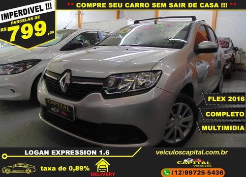 Imagem 1 de 13 de Renault Logan 1.6 16v Sce Flex Expression 4p Manual