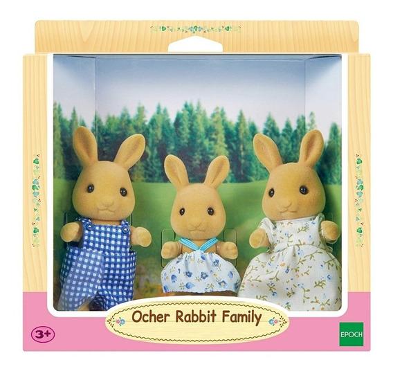 Sylvanian Families 5129 Familia De Conejos Ocre Orig Intek