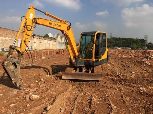 Escavadeira Hyundai R55 Com Rompedor