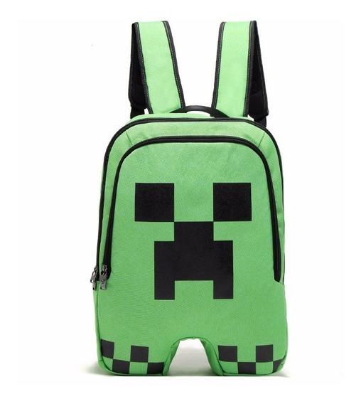 Mochila Infantil Escolar Minecraft Creeper