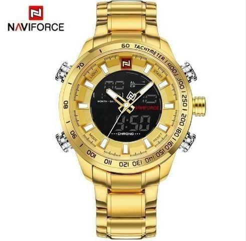 Relógio Importado De Luxo Naviforce 9093 Top Pronta Entrega